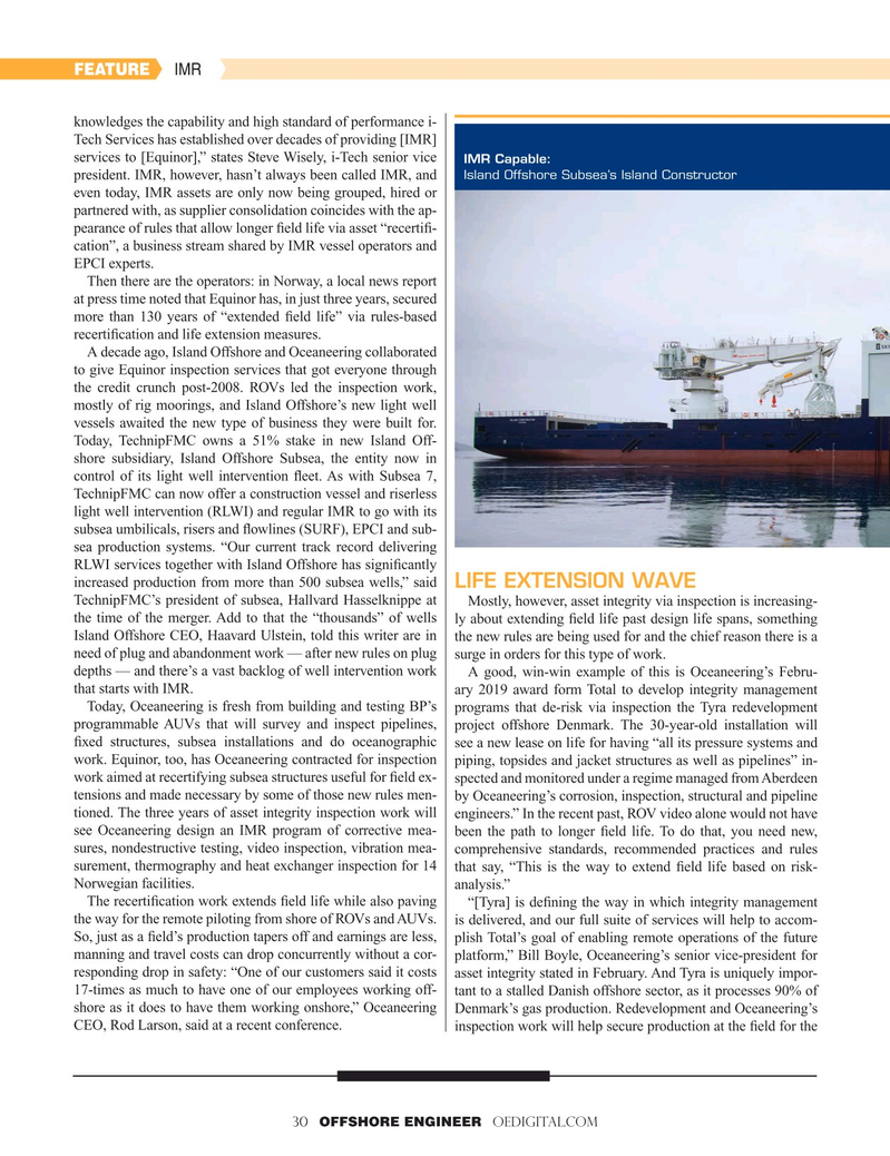 Offshore Engineer Magazine, page 30,  Mar 2019