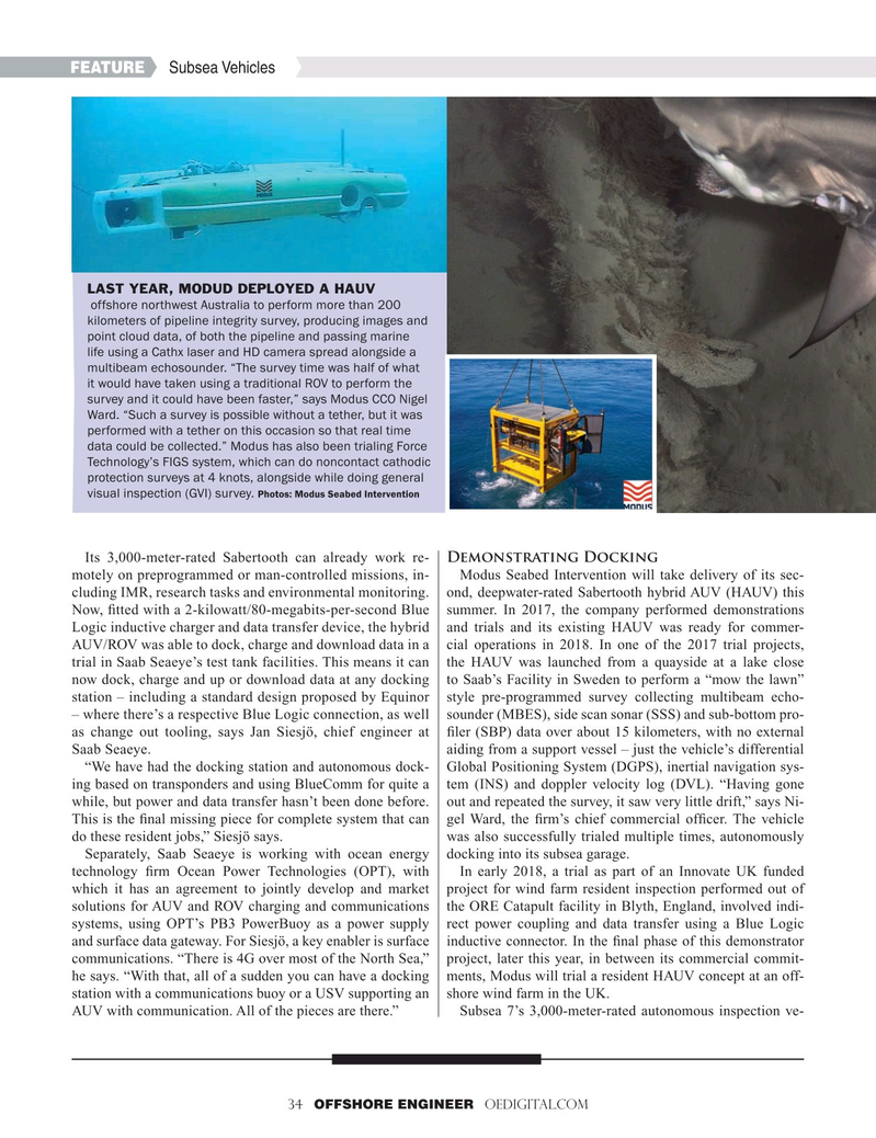 Offshore Engineer Magazine, page 34,  Mar 2019