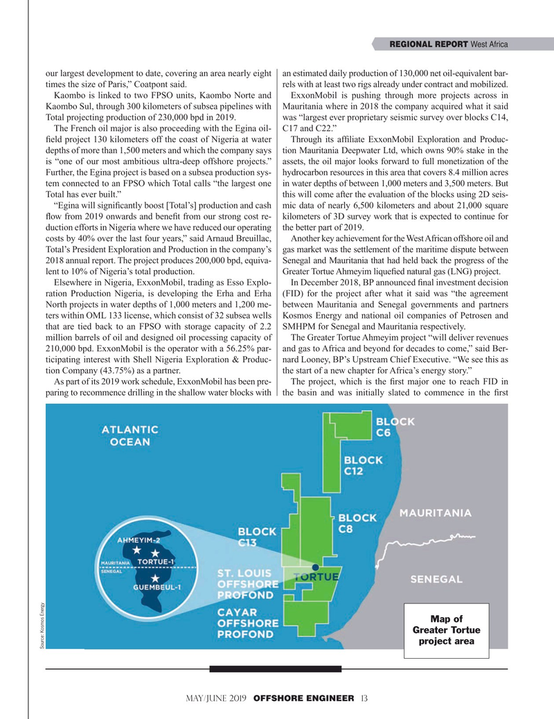 Offshore Engineer Magazine, page 13,  May 2019