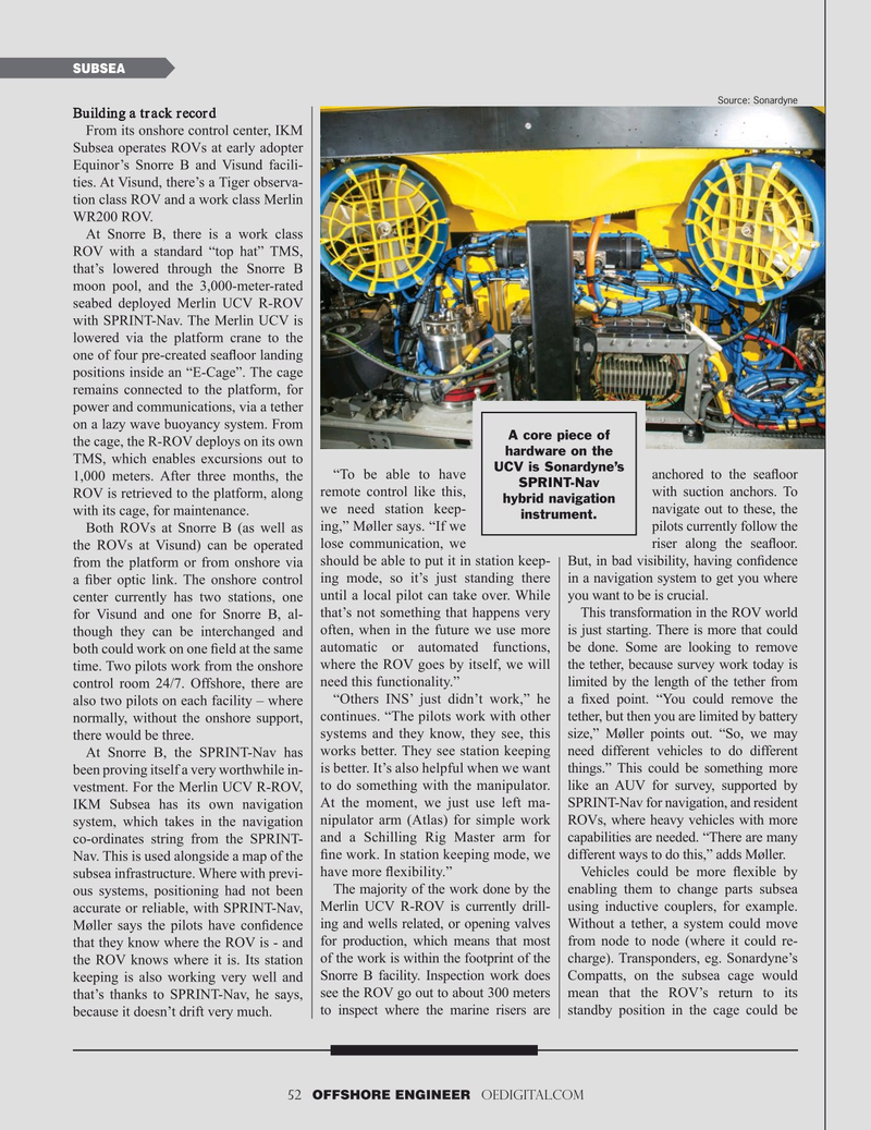 Offshore Engineer Magazine, page 52,  Sep 2019