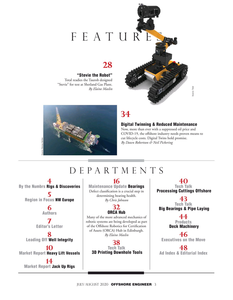 Offshore Engineer Magazine, page 3,  Jul 2020
