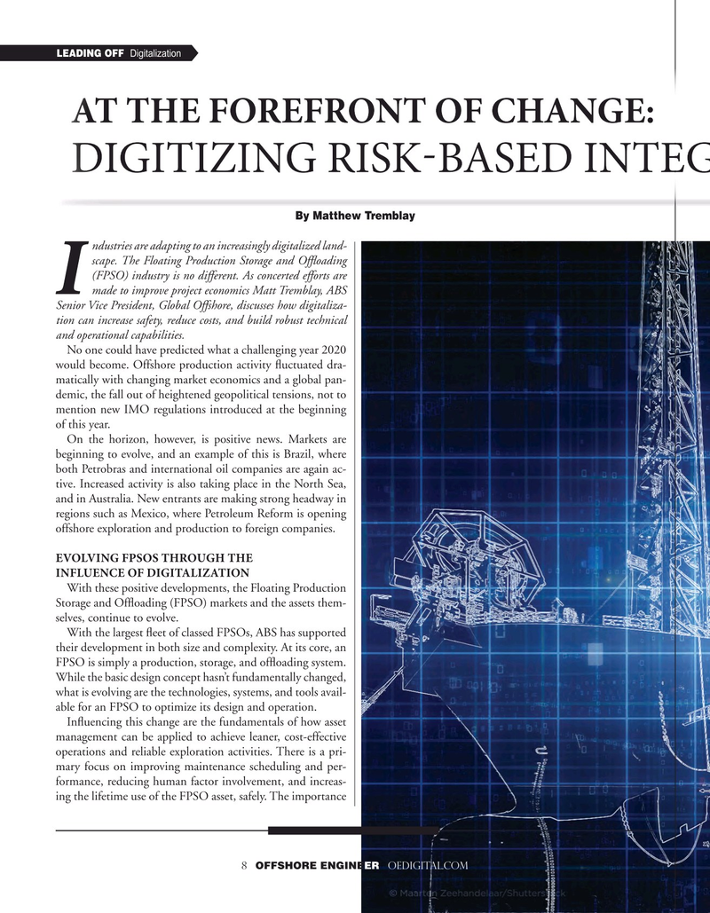 Offshore Engineer Magazine, page 8,  Sep 2020