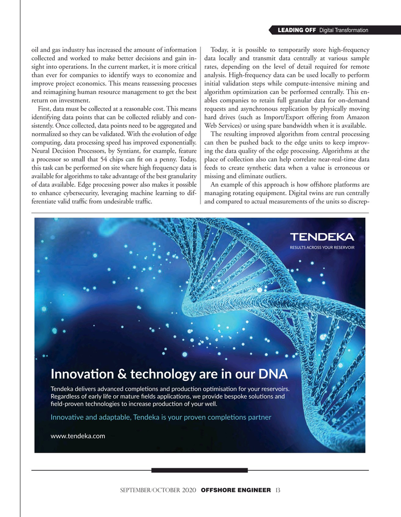 Offshore Engineer Magazine, page 13,  Sep 2020