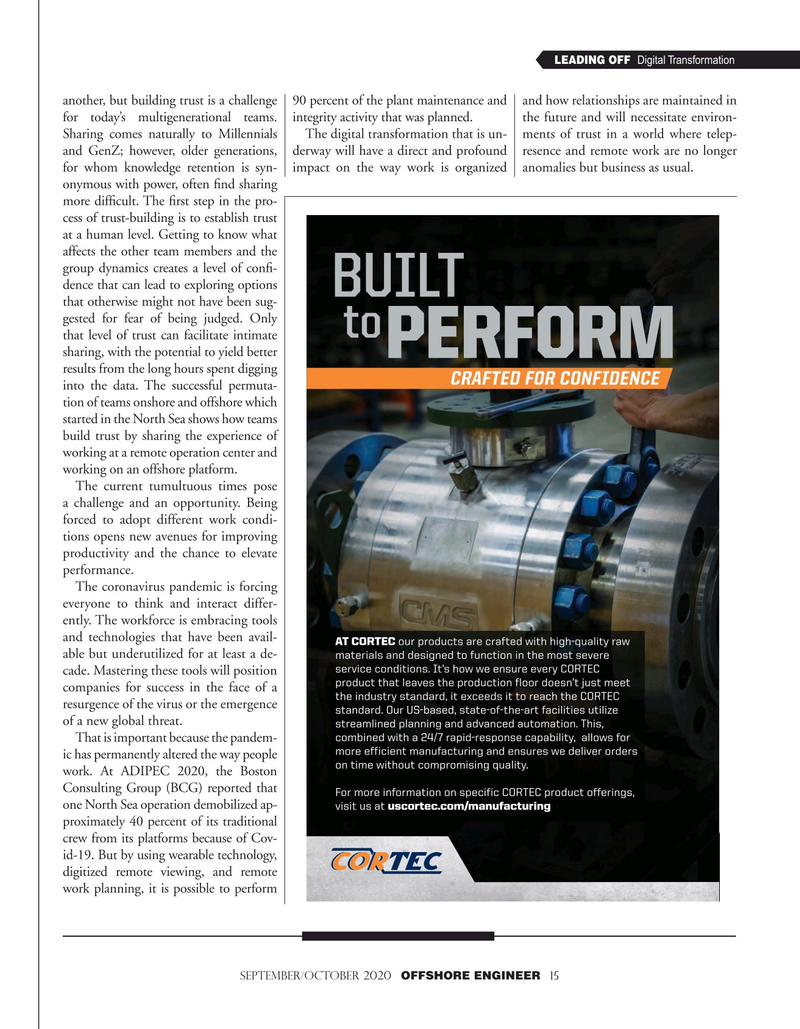 Offshore Engineer Magazine, page 15,  Sep 2020