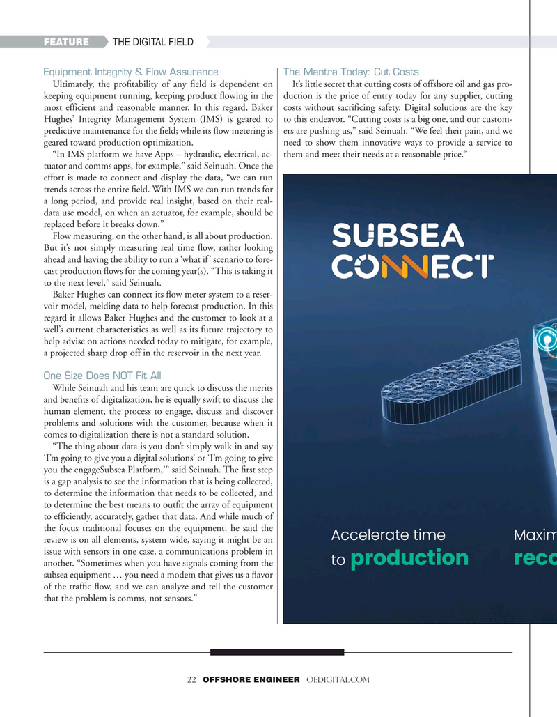 Offshore Engineer Magazine, page 22,  Sep 2020
