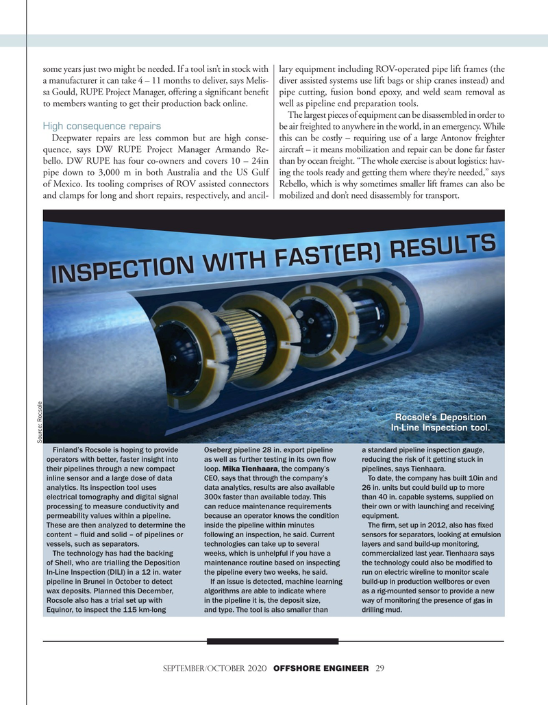 Offshore Engineer Magazine, page 29,  Sep 2020