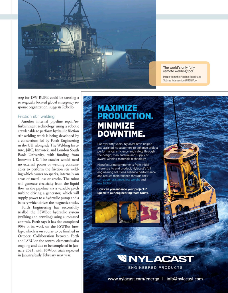 Offshore Engineer Magazine, page 31,  Sep 2020