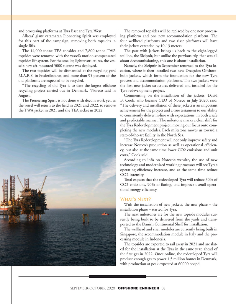 Offshore Engineer Magazine, page 35,  Sep 2020