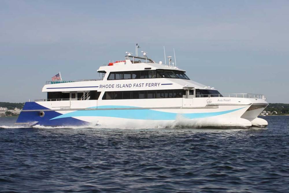 34m boat delivered to rhode island fast ferry. Black Bedroom Furniture Sets. Home Design Ideas