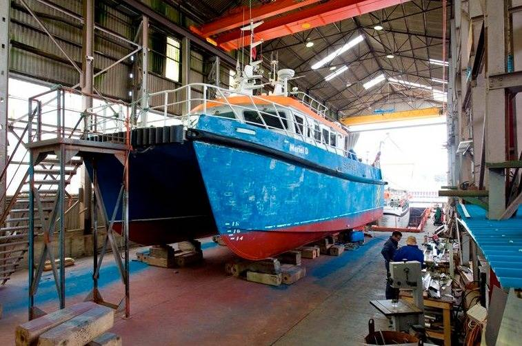 Alicat Catamaran Under Construction: Photo courtesy of Alicat