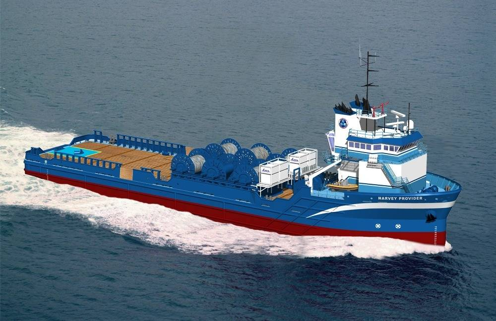 A Harvey Gulf Vessel: Photo courtesy of Harvey Gulf