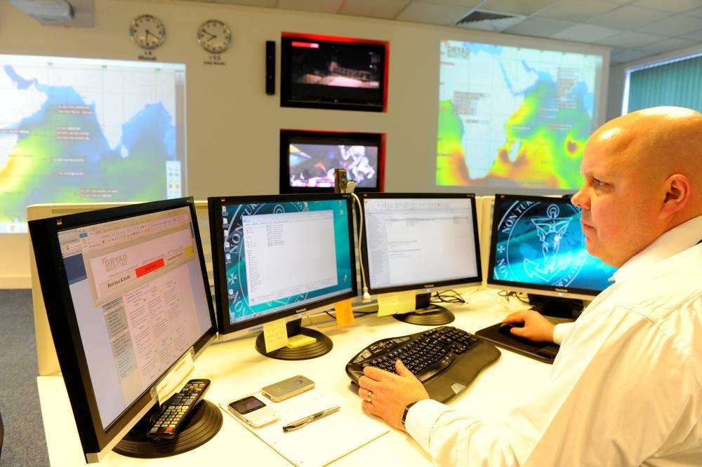 File Dryad Operations Room:Photo credit Dryad Maritime