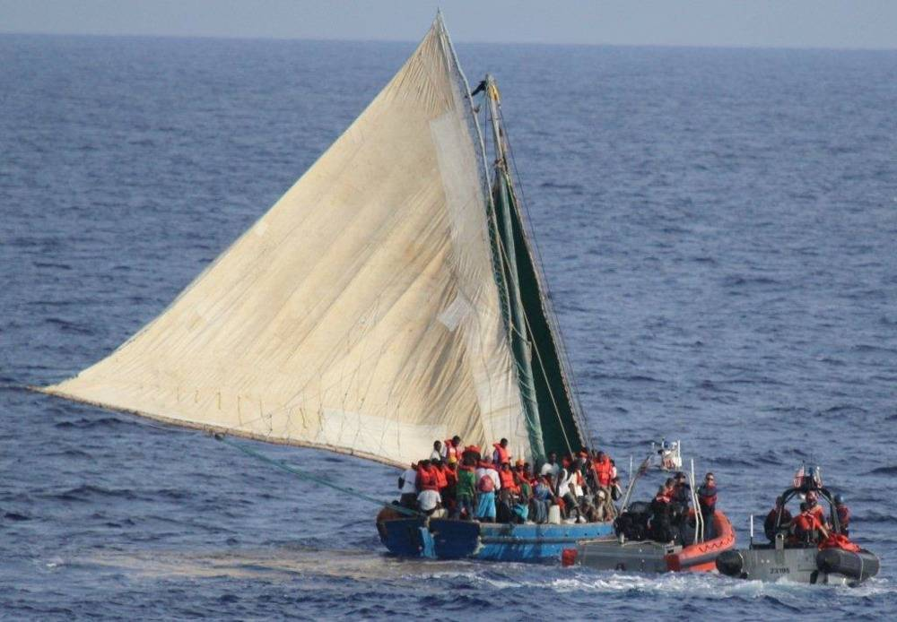 Haitian Illegal Immigrant Craft: Photo credit USCG