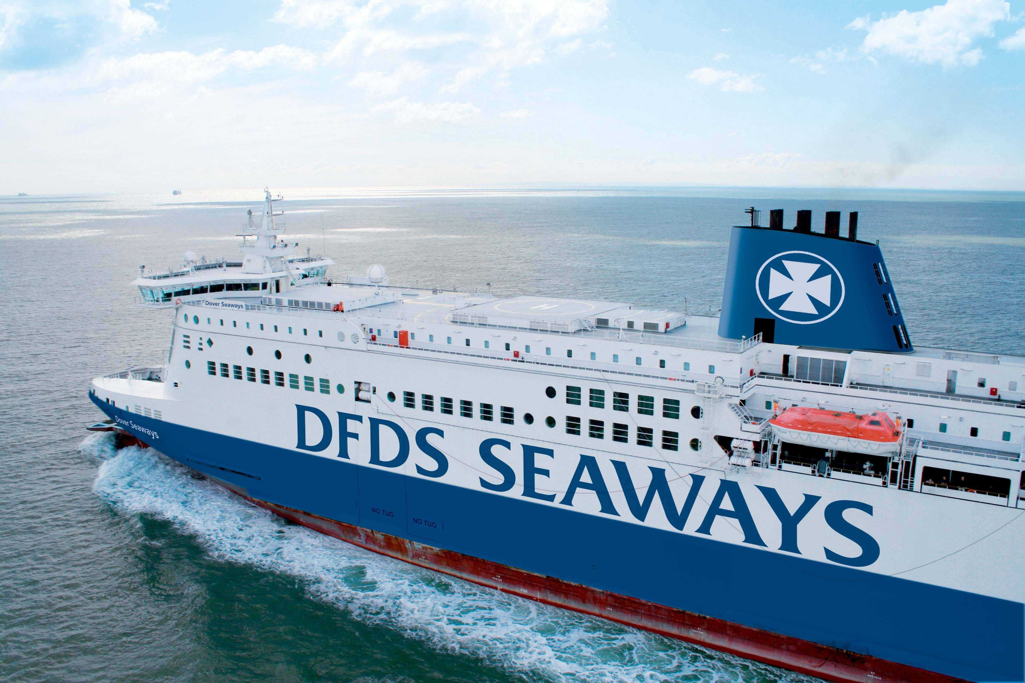File Shown: Dover Seaways, one of three DFDS RO-PAX vessels.