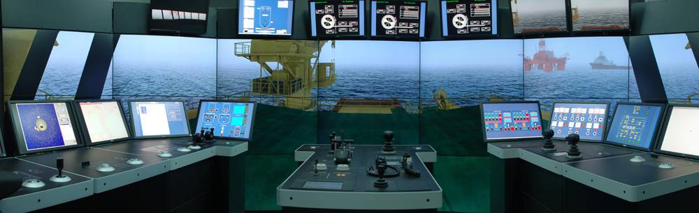 Kongsberg Offshore Vessel Simulator at Lerus Training Center.