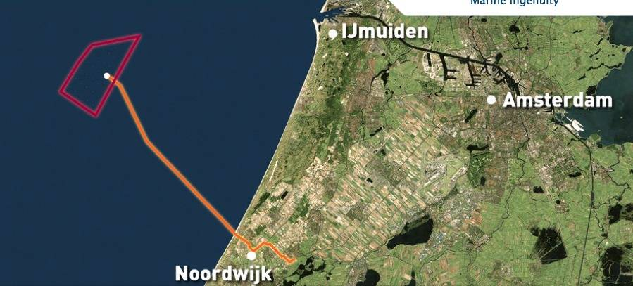 Windfarm Location: Image courtesy of Van Oord