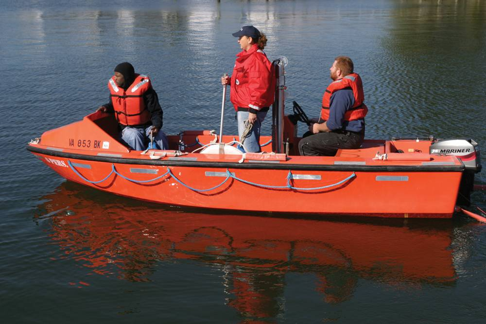 Chesapeake Marine Training Institute offers a survival craft course for mariners who wish to obtain an endorsement as Lifeboatman Limited for vessels not equipped with lifeboats.