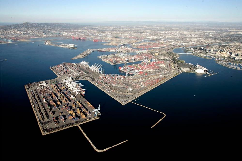 File Port of Long Beach from the Air: Photo credit Port of Long Beach