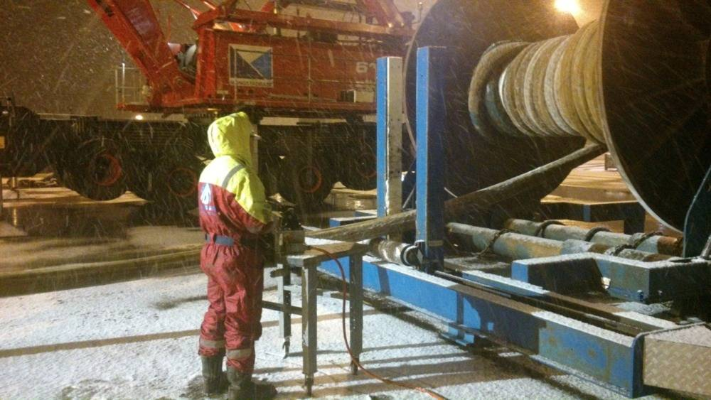 File Spooling Wire in Mongstad Base: Photo credit IOS InterMoor