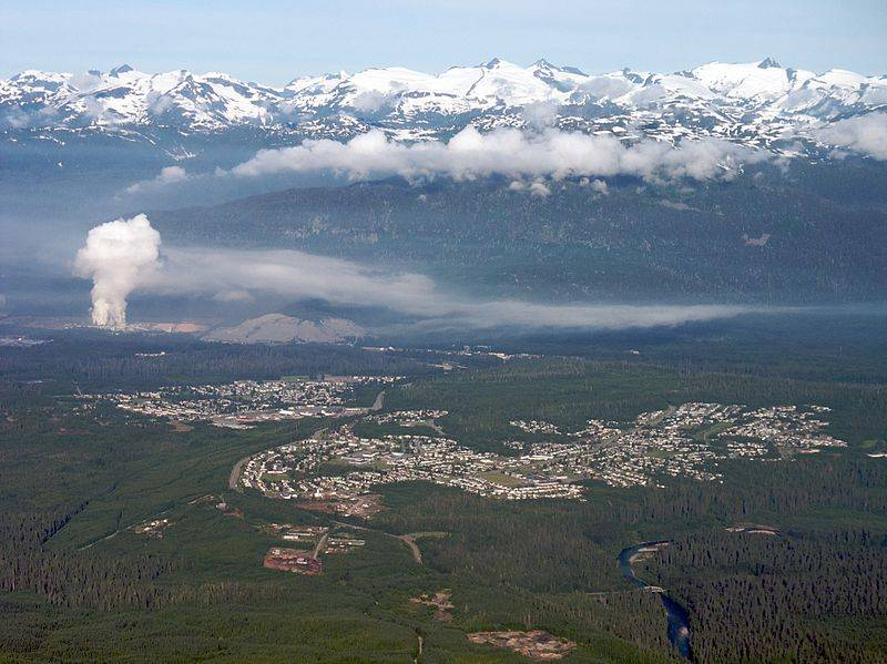 Kitimat BC: Photo credit Wiki CC2 Sam Beebe / Ecotrust