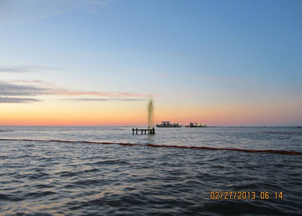 Scene of the spill: Photo credit USCG