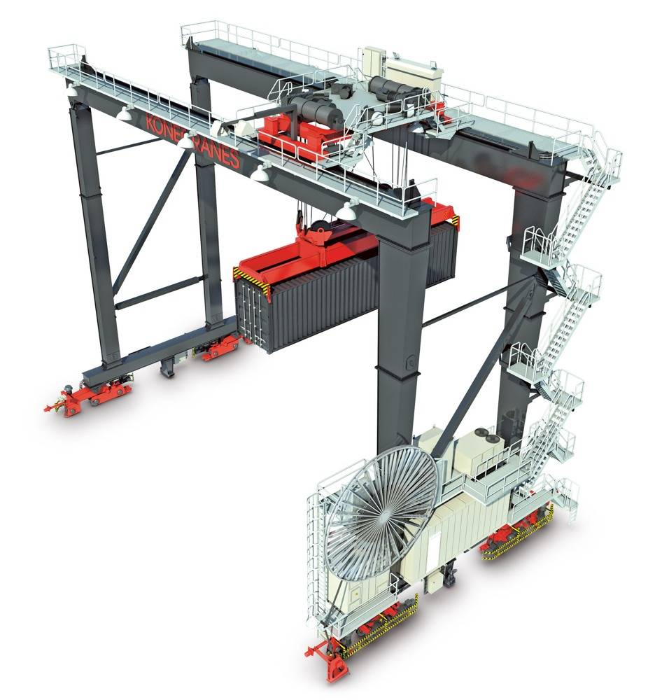 File Automated Stacking Crane: Image credit Konecranes