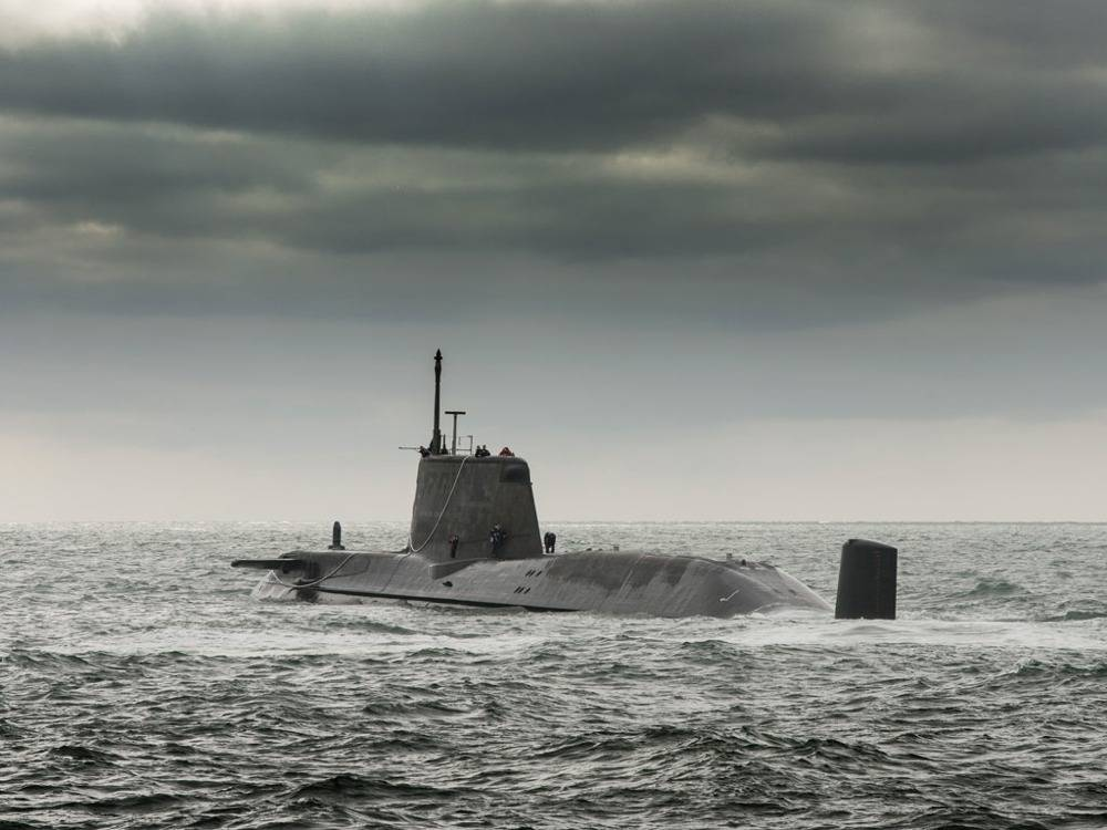 File HMS Ambush on Trials: Photo credit Royal Navy
