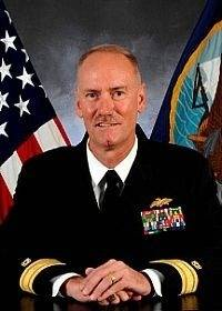 Rear Admiral Kevin R. Slates: Photo credit USN