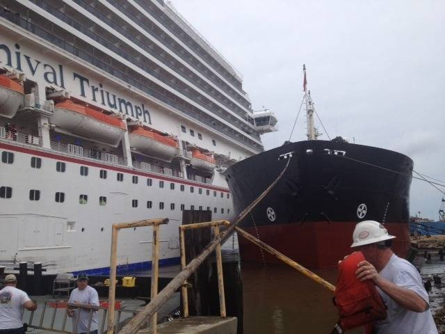 Carnival Triumph Incident: Photo credit USCG