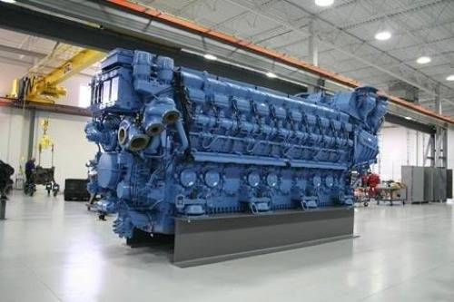 MTU Series 8000 Engine: Photo credit Tognum MTU
