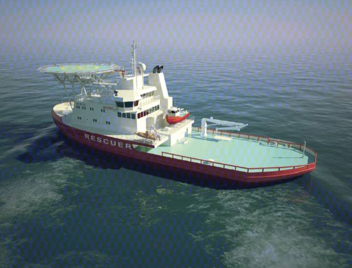 Arctic Oil Spill Icebreaker: Image courtesy of Aker Arctic Technology