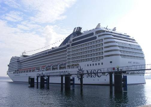 MSC Musica in Kiel (Photo: Port of Kiel)