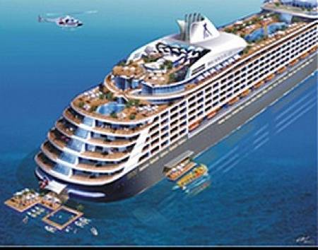 Cruise ship design: Artist