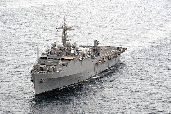 USS Ponce: Photo credit USN