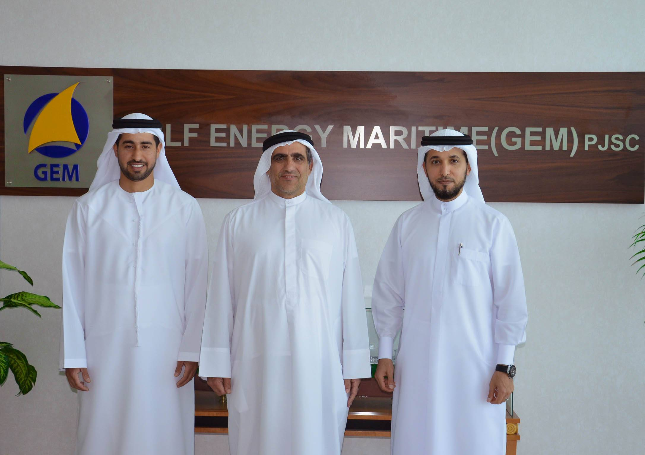 (L-R): Mr. Khalifa Abdulla Al Romaithi, new chairman of GEM; Mr. Saeed Abdulla Khoory; current chairman of GEM; and Mr. Ahmed AL Falahi, CEO of GEM.