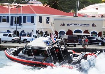 Coast Guard Sector San Juan, Puerto Rico, tests out one of four new Response Boat-Small (RB-S) II, delivered April 8–11. The new RB-S II gives Coast Guard operators upgraded electronics and communications, improved crew comfort to reduce fatigue, and improved visibility. U.S. Coast Guard photo by Lt. Nicholas Schellman.