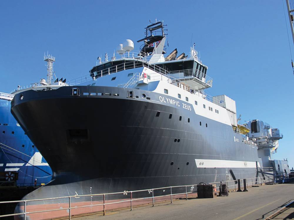 The OSV Olympic Zeus was a recent, successful Hyde Marine retrofit project