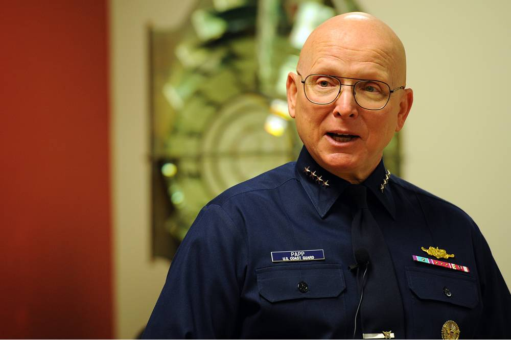 U.S. Coast Guard Commandant Bob Papp (file photo)