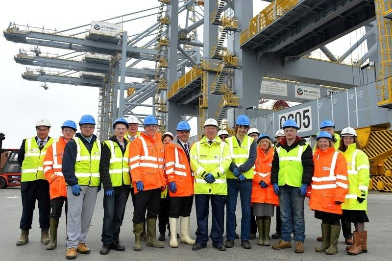 Prospective Apprentices Tour: Photo credit DP World London Gateway
