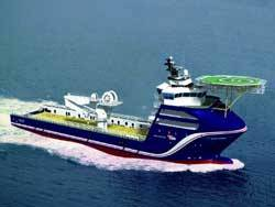 3D drawing of the Platform Supply Vessels being built at the Cochin Shipyard in India.