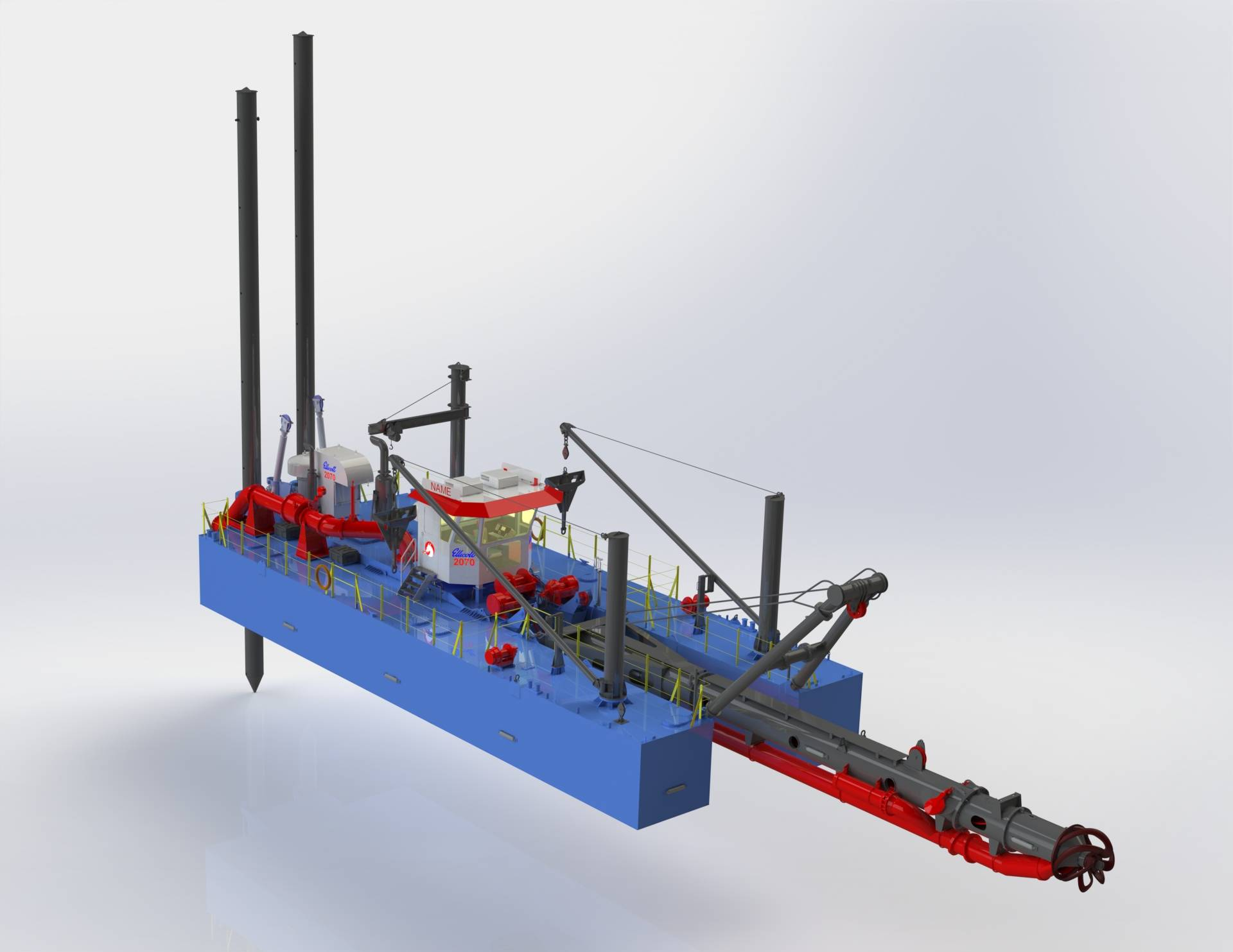 Portable Suction Dredge : New cutter suction dredge modern and