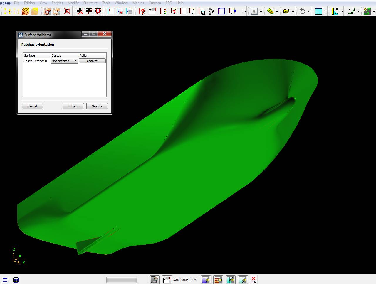 File screenshot of CAD/CAM system