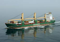 File Rickmers Tianjin has now joined her sistership Rickmers Yokohama, seen here in the English Channel, on the Europe India Service