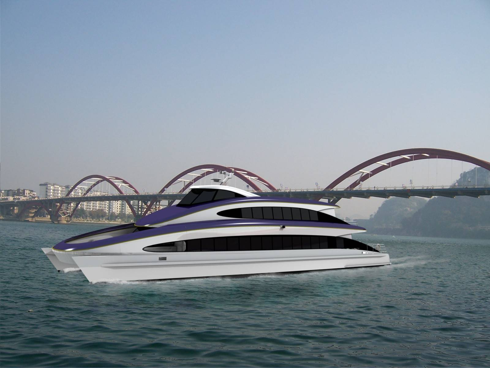 DFe 3508, a 35m Aluminium Luxury Sightseeing Ferry.