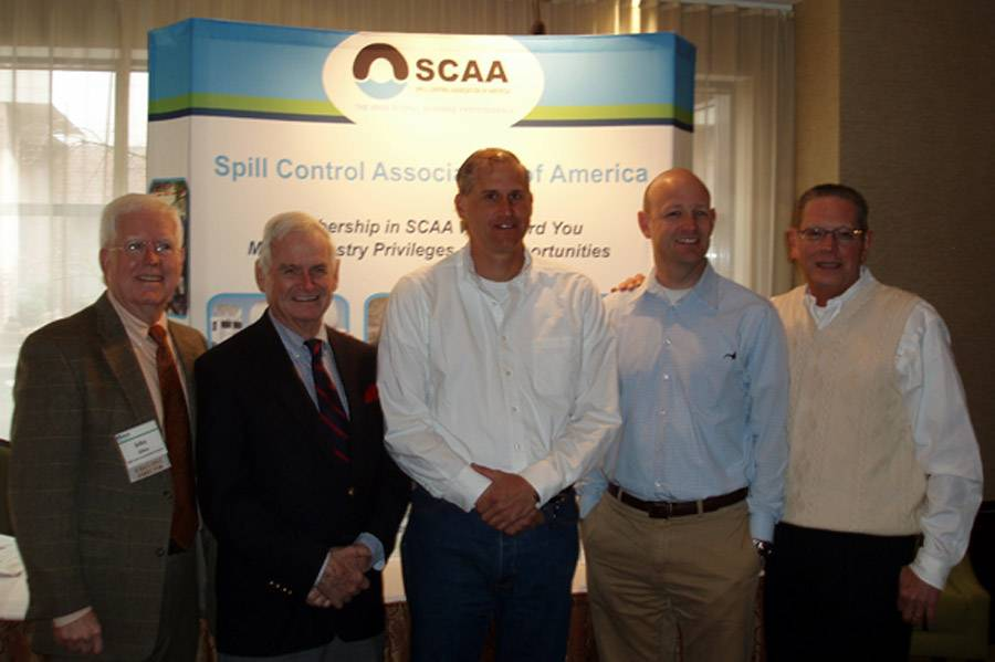 File From left to right: John Allen, SCAA Executive Director; Mike Gallagher, Harry Bedrossian, Devon Grennan and Andrew Altendorf, SCAA President (Photo: SCAA).