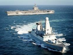 HMS Daring & USS Carl Vinsion: Photo credit USN