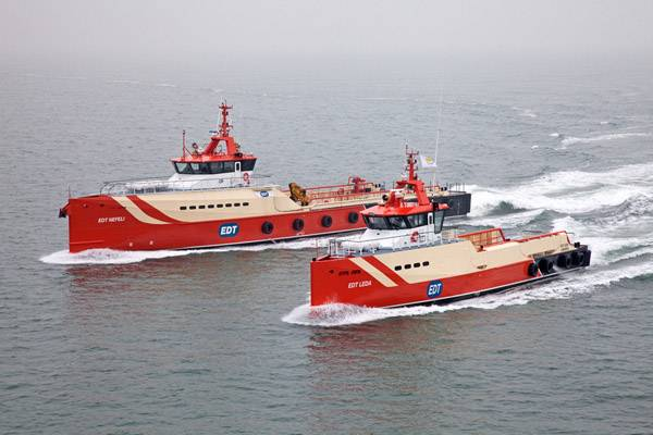 The EDT Leda and the EDT Nefeli (Photo: Damen).