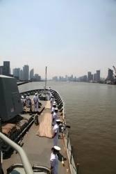 File HMAS Ballarat in Yangtze Estuary: Photo credit RAN