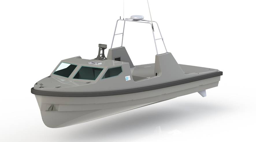 re-configurable Unmanned Surface Vehicle (USV).