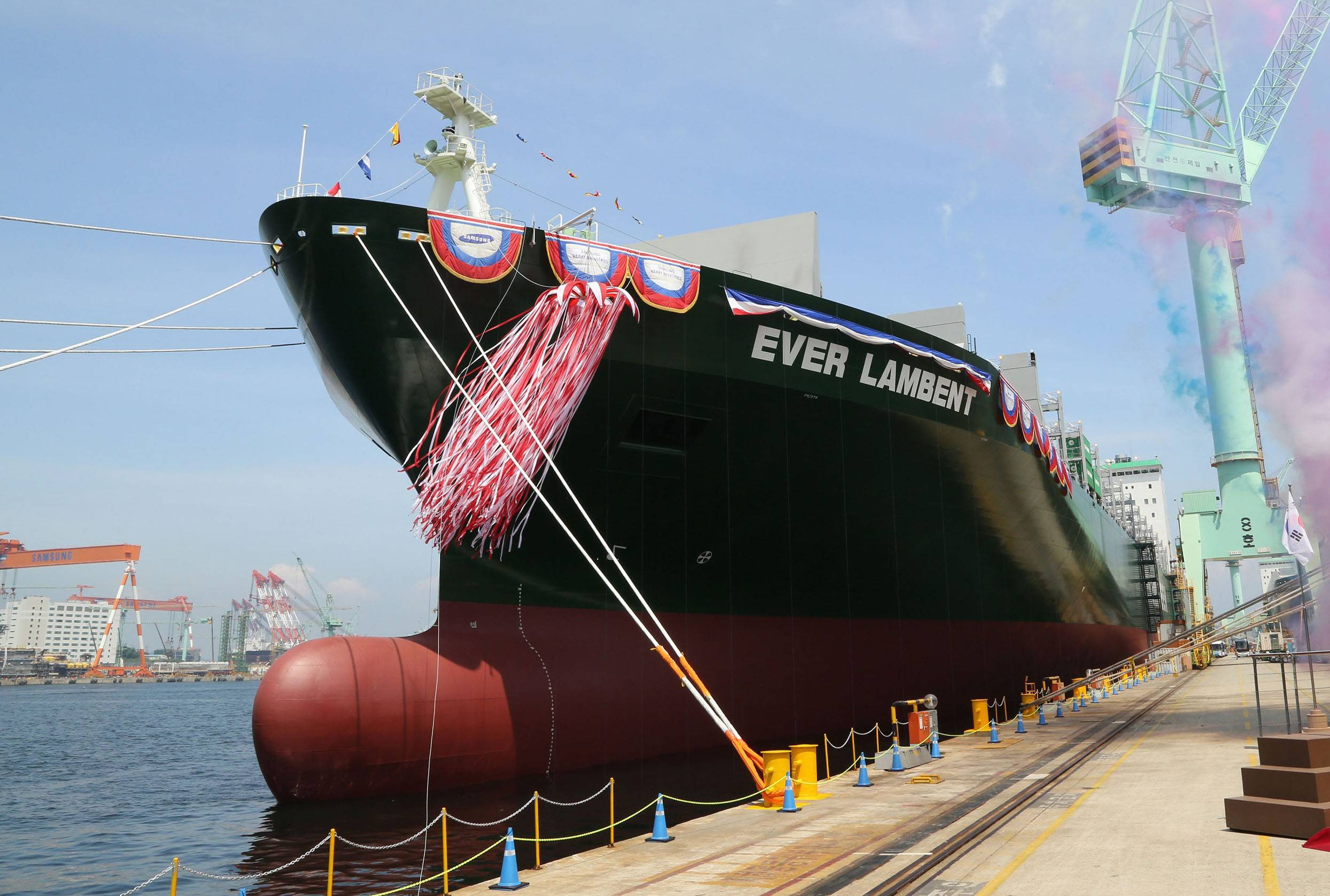 File Ever Lambent, the first L-type containership in the Evergreen Line fleet.
